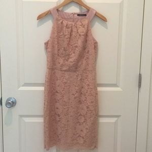 Blush lace formal dress